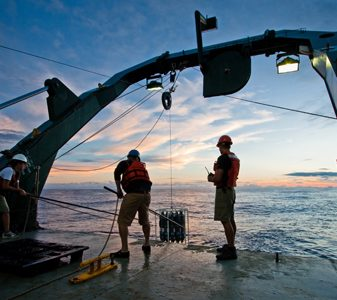 Sampling in the Pacific Ocean